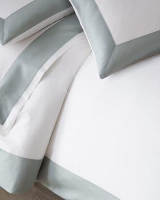 Sferra Modern Sateen Applique King Duvet Cover