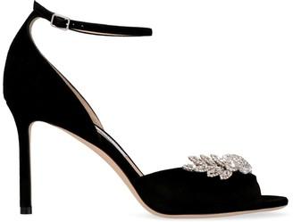 Jimmy Choo Tris 85 Suede Heeled Sandals