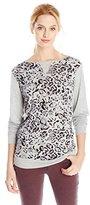 Michael Stars Women's Cheetah Print Longsleeve Sweatshirt