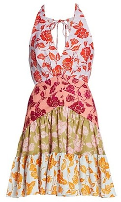 Zimmermann Lovestruck Floral V-Neck Mini Dress