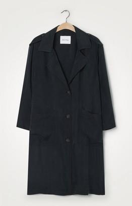 American Vintage Nonogarden Jacket in Carbon - XS/S | viscose