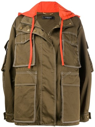 Versace Cargo-Pocket Oversized Jacket