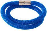 Swarovski Stardust Convertible Crystal Mesh Bracelet/Choker, Capri Blue, Small