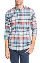 Nordstrom Men's Slim Fit Washed Plaid Sport Shirt
