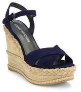 Stuart Weitzman Sundry Suede & Nubuck Wedge Platform Sandals