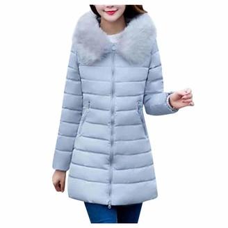 Tuduz Outerwear TUDUZ New Women's Quilted Winter Down Coat Ladies Slim Cotton Overcoat Puffer Fur Collar Hooded Parka Pink Black Blue Gray(A Black 3XL)