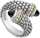Lagos Signature Caviar Ct. Tw. Onyx Ring