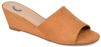 Journee Collection Pavan Wedge Slide Sandal
