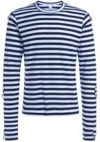 Comme des Garcons White And Blue Striped T-shirt