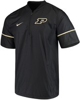 Nike Men's Black Purdue Boilermakers Sideline Quarter-Zip Short Sleeve Hot Jacket