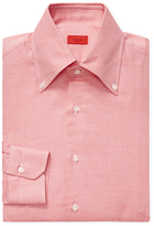 Isaia Solid Cotton Dress Shirt