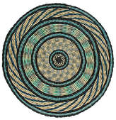 Dransfield and Ross Round Place Mat - Blue