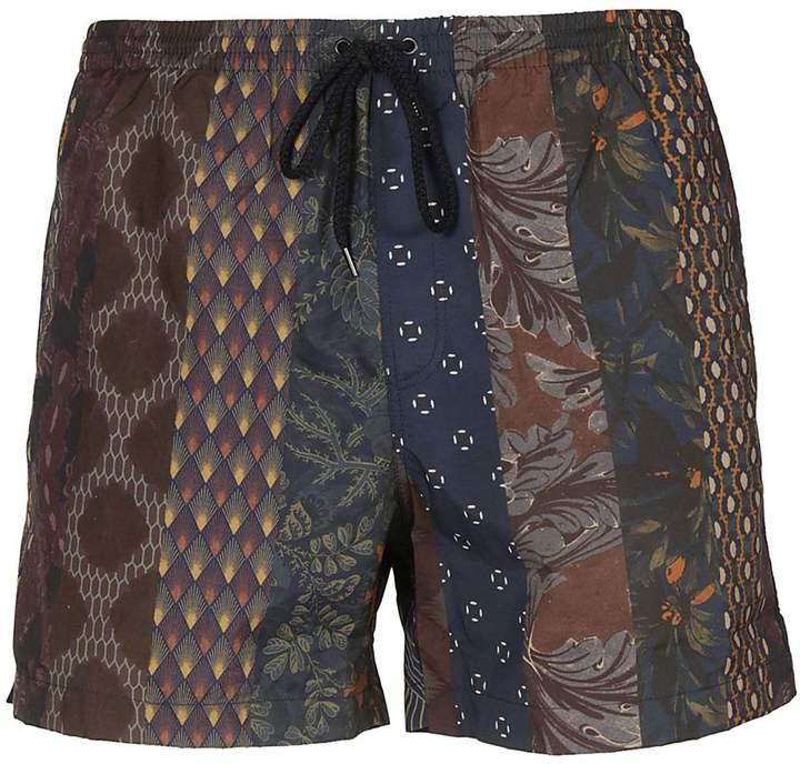 Dries Van Noten Patterned Swim Shorts