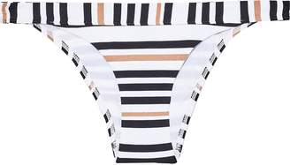 Jets Vista Metallic Striped Low-rise Bikini Briefs