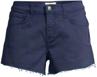 L'Agence Ryland High-Rise Denim Cut Off Shorts