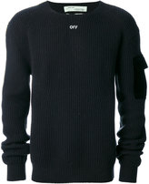 Off-White ribbed sweater - men - Cotton/Wool - S