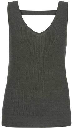 Mint Velvet Khaki Metallic Fleck Knit Vest
