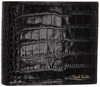 Paul Smith Black Croc Bifold Wallet