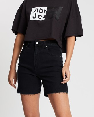 Abrand - Women's Black Denim - A Claudia Cut Offs - Size 8 at The Iconic