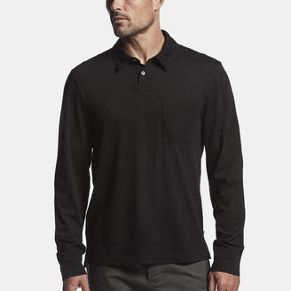 James Perse Sueded Jersey Rugby Polo