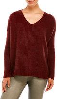 Eileen Fisher Waffle Stitch V-Neck Sweater