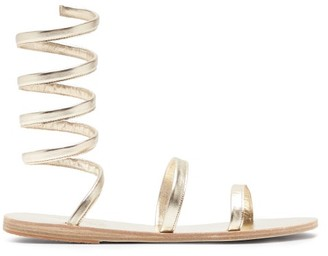 Ancient Greek Sandals Offis Spiral-strap Metallic-leather Sandals - Gold
