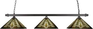 Barba Fleur De Lis Living 3-Light Pool Table Lights Linear Pendant Fleur De Lis Living