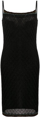 Christian Dior 2000s Pre-Owned Bead Embroidered Lurex Dress