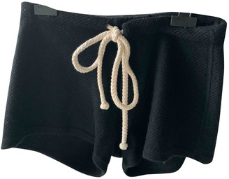 The Elder Statesman Black Wool Shorts