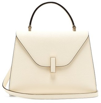 Valextra Iside Mini Leather Bag - White