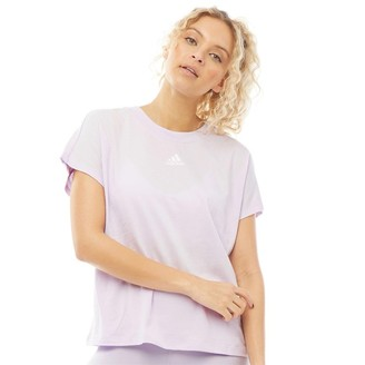 adidas Womens Athletics 3-Stripes Must Haves T-Shirt Purple Tint/White
