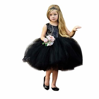 Toddler Baby Kid Girl Pattern Dress Outfit Clothes Suit for 1-5 Years Princess Kobay Ruffles Sleeveless Dress