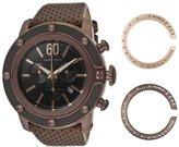 Glam Rock Men's Sobe Tech 50mm Brown Leather Band Swiss Quartz Watch Gr33110