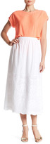 Vince Camuto Embroidered Border Midi Skirt