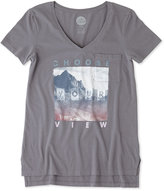 Life is Good Slate Gray Mountain 'Choose Your View' Pocket Vibe Tee