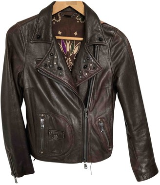 Le Sentier Brown Leather Leather Jacket for Women