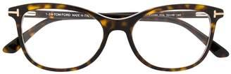 Tom Ford Havana oval-frame glasses