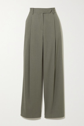 LE 17 SEPTEMBRE Crepe Straight-leg Pants - Gray