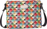 Signare Women's Handbags Multicolor - Red & Blue Geometric Triangle Crossbody Bag