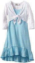Amy Byer Girls 2-6X Knit Hi Low Dress