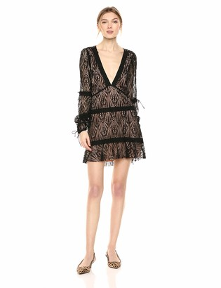 For Love & Lemons Women's Bright Lights Long Sleeve Mini Dress