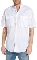 Zanerobe Men's Rugger Band Collar Shirt
