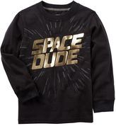 """Carter's Boys 4-8 Space Dude"""" Foil Graphic Tee"""