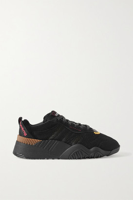Adidas Originals By Alexander Wang Turnout Suede And Rubber-trimmed Mesh Sneakers - Black
