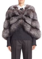 Michael Kors Horizontal Fox Fur Cape