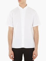 Jil Sander White Cotton Short-Sleeved Shirt