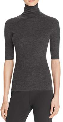 Theory Leenda B Merino Wool Turtleneck Top