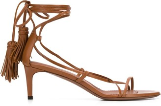L'Autre Chose Strappy Hanging Tassel Sandals