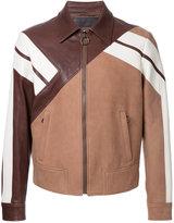 Neil Barrett geometric panelled jacket - men - Leather - S