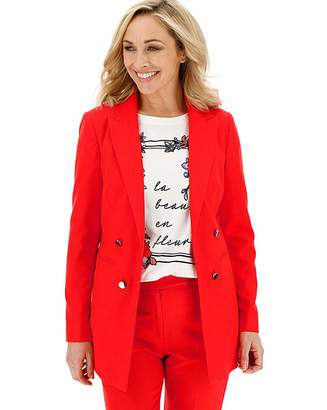 Marisota Mix and Match Red Edge to Edge Blazer